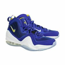 Men's Nike Air Penny 5 Basketball Shoes Bright Blue/Yellow Streak/White537331402