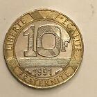 Pièce Ancienne - 10 Francs Génie Bastille 1991 - Ancient French 10 francs coin