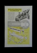 Soapbox type COASTER 4 seater Wagon 1946 How-To build PLANS