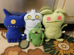 "Lot Rare Uglydolls Mij 15"" Plush Green Ugly Doll Figure Dog Blue Groody Babo"