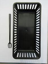 New 6 Black Multi-use Mini Plastic Food Basket Container & 600 Devil's Fork