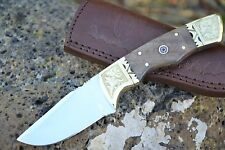 "Huntex Handmade Japanese D2 Steel 8"" Hunting Walnut Wood Companion Knife"