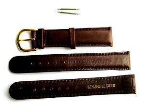 Uhrenarmband 10 mm breit, rotbraun, Rindleder. 2 Stege. Uhrenband, Uhrenbänder,