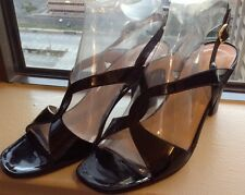tanino crisci black patent leather Hand made in Italy heels shoes size 39 9
