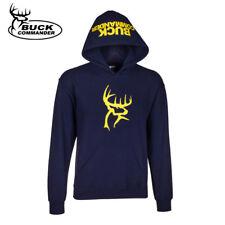 Buck Commander Logo Hoodie (L)- Navy/Yellow