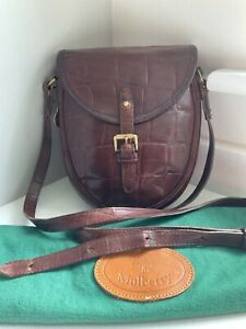 Vintage Mulberry brown congo leather saddle cartridgecrossbody shoulder+dust bag