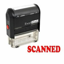 ExcelMark SCANNED Self Inking Rubber Stamp A1539 | Red Ink