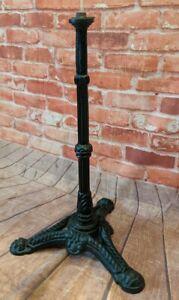 Vintage Cast Iron Table Base - Side Table - Pub Pedestal