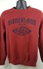 Disneyland Resort Crew Neck Sweatshirt Embroidered Grumpy Mens Medium Maroon Red