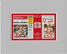 Ohio State beats Oregon for 2014 BCS title matted pics of newspaper front pages
