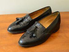 Johnston & Murphy Optima Sz 8D Kiltie Tassel Wing Tip Black Loafers Shoes