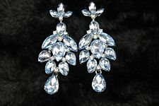 Elegant Teadrop Vintage Style Crystal Chandelier Earrings