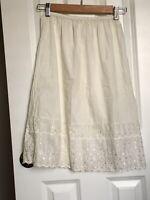 Vintage Eyelet Lace Women's Half Slip Size Small Petite