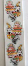 Animal Parade Bear and Birthday Cake Sticker Strip
