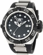 Invicta 50mm Subaqua Noma IV GMT Swiss Made Black Dial Poly Watch PRE-OWNED