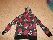"Boys ""Hoodiebuddie"" Red Checkered Long Sleeve Hoodie Size M"