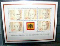 "FRANCOBOLLI GERMANIA - GERMANY 1982 ""PRESIDENT OF GERMANY"" MNH** BLOCK (CAT.J)"
