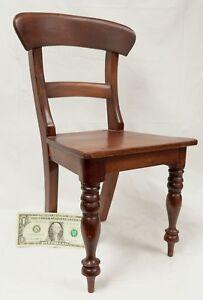 Vintage Miniature Diminutive Mahogany Empire Style Chair