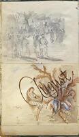 AUGUST Watercolour LANDSCAPE Sketch JAMES SIMPSON ALDERSON c1890