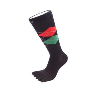 ToeToe Socks Essential Mens Argyle Office Socks Suits All Barefoot Shoes OSFA