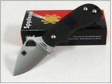 Couteau SPYDERCO SQUEAK Lame Acier N690CO Manche FRN Made In Italy SC154PBK