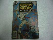 TOP SECRET  CAPTAIN ATOM FILE 3 OF 3   1989 DC COMICS Rare ENGLISH