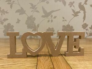Freestanding wooden LOVE heart sign