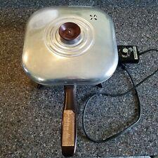 """Dormeyer Vtg Electric Skillet Model SK3 Fry Way Fry Pan 10"""" Square Works Great!!"""