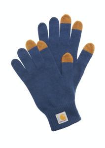 Carhartt WIP TACTILE GLOVES, MERINO WOOL, BLUE/HAMILTON BROWN, M