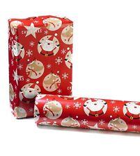 Christmas wrapping paper roll, 2 rolls 50cm x 4m =  8 meters xmas wrap. Santa