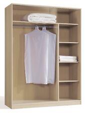Armario vestidor ropero abierto dormitorio color haya moderno 150x55x200 cm