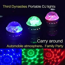 Disco DJ Stage Light Club Party Crystal Ball Effect RGB Rotating LED Lighting UK