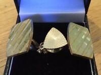 Vintage Cufflinks & Tie Pin Gift Set