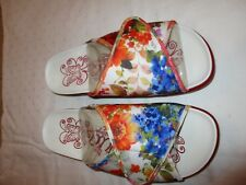 Alegria Airie AIR-290 sandals sz 39 canvas red floral NWOB New florever