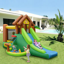 Inflatable Jungle Bounce House Slide Jump Castle W/Blower Kids Play