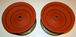 CUB CADET ORIGINAL 61-63 Front Rims  3.75 x 8  Sandblasted & Primed