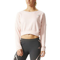 Adidas Women's Aktiv Cozy Pullover Vapor Running Pink Crop Top AX5892 NEW!