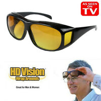 Unisex HD Wrap Around Night Vision Driving Aviator Glasses Eyewear As Seen on TV