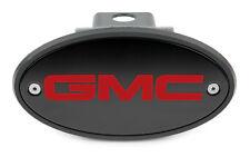 "1.25 Inch GMC Black Receiver Hitch Cover - RED Logo - Acadia Terrain USA 1 1/4"""