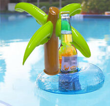 2Pcs Summer Floating Palm Island Inflatable Drink Holder Pool Party Toys Set