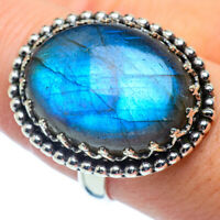Large Labradorite 925 Sterling Silver Ring Size 8.25 Ana Co Jewelry R37956F