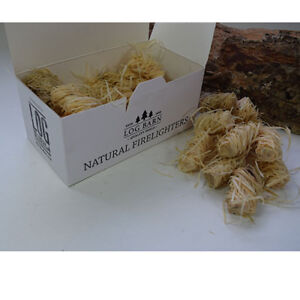 Bulk Buy!! 40 Boxes!! Natural Firelighters / Flamers For Fires