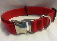 "Adjustable Dog Collar Metal Side Release Buckles 1"" Inch Webbing Usa Made"