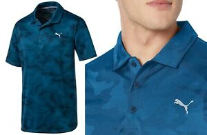 Puma Golf Alterknit Camo Polo Shirt - RRP£60 - S M L - Gibraltar Blue