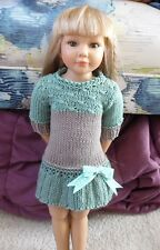 Organic Knit Doll Clothes Sweater Dress Gotz 18 inch Girl Kidz n Cats Selena