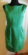 ORSAY Green Shift Dress UK 10 Eur 38 Sleeveless Vintage Style 1960s Mad Men Work