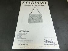 Vintage Leathercraft Stardust Handbag Pattern and Instructions.