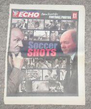 Original Liverpool Echo Newspaper – Soccer Shots – Liverpool Everton – 2001