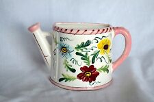 VINTG CERAMIC WATERING CAN WALL POCKET HAND PAINTED JAPAN GRANT CREST AIR PLANTS