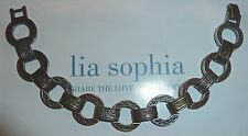 "New Demo - Lia Sophia ""Trifecta"" Bracelet - 3-Tone Links - $44"
